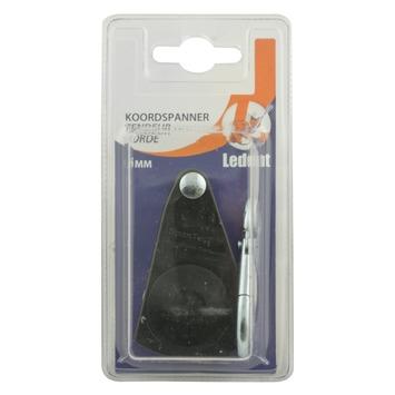 Ledent koordspanner met karabijnhaak zwart 6 mm