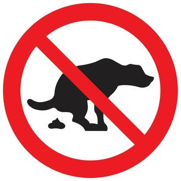 Pickup bord hier geen hondepoep 18 cm