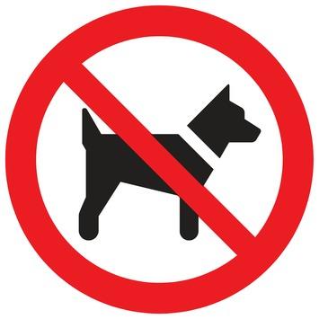 Pickup bord verboden voor honden Ø 18 cm