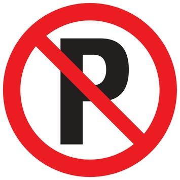 Pickup bord verboden te parkeren Ø 18 cm