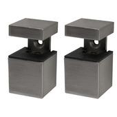 B! Organised clip cube mini geborsteld nikkel