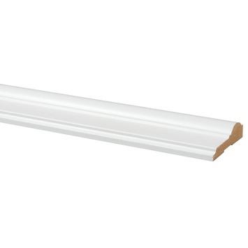 Deurlijst MDF wit folie classic 18x68 mm lengte 260 cm