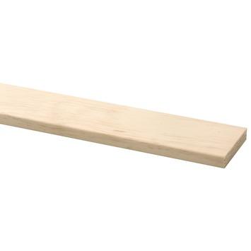 Lat grenen D-vorm 12,5x67,5 mm lengte 210 cm