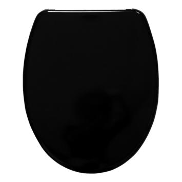 Handson Usko wc bril duroplast zwart met softclose en quick release