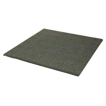 Rubber tegel grijs 50x50x2,5 cm
