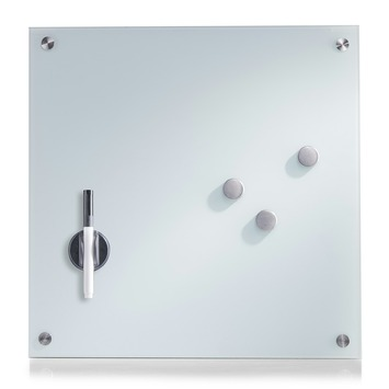 Memobord glas wit 40x40 cm