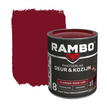 Rambo Pantserlak Deur & Kozijn hoogglans klassiekrood dekkend 750 ml