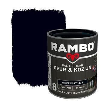 Rambo Pantserlak Deur & Kozijn zijdeglans diepzwart dekkend 750 ml