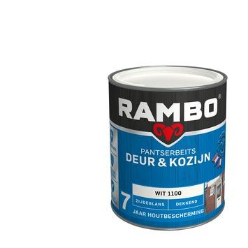 Rambo Pantserbeits Deur & Kozijn zijdeglans wit dekkend 750 ml