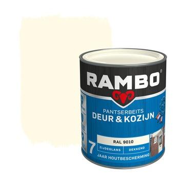 Rambo Pantserbeits Deur & Kozijn zijdeglans ral 9010 dekkend 750 ml