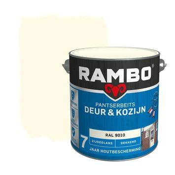 Rambo Pantserbeits Deur & Kozijn zijdeglans ral 9010 dekkend 2,5 l