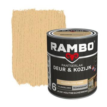 Rambo Pantserlak Deur & Kozijn zijdeglans kleurloos transparant 750 ml
