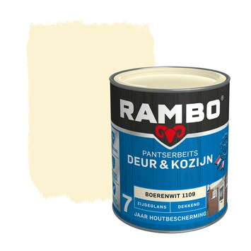 Rambo Pantserbeits Deur & Kozijn zijdeglans boerenwit dekkend 750 ml
