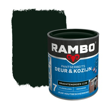 Rambo Pantserbeits Deur & Kozijn zijdeglans grachtengroen dekkend 750 ml