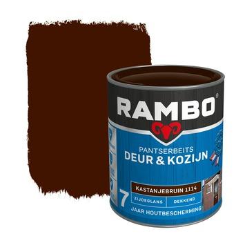 Rambo Pantserbeits Deur & Kozijn zijdeglans kastanjebruin dekkend 750 ml