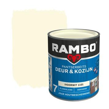 Rambo Pantserbeits Deur & Kozijn zijdeglans ivoorwit dekkend 750 ml