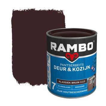 Rambo Pantserbeits Deur & Kozijn zijdeglans klassiekbruin dekkend 750 ml