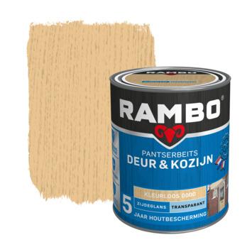 Rambo Pantserbeits Deur & Kozijn zijdeglans kleurloos transparant 750 ml