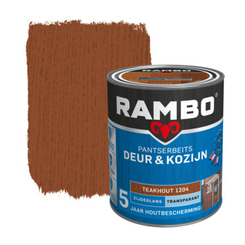 Rambo Pantserbeits Deur & Kozijn zijdeglans teakhout transparant 750 ml