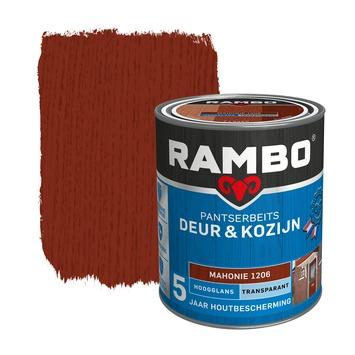 Rambo Pantserbeits Deur & Kozijn hoogglans mahoniehout transparant 750 ml