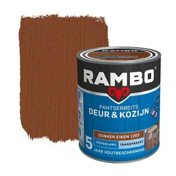 Rambo Pantserbeits Deur & Kozijn hoogglans donkereiken transparant 750 ml