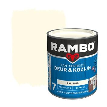 Rambo Pantserbeits Deur & Kozijn hoogglans ral 9010 dekkend 750 ml