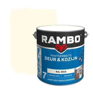 Rambo Pantserbeits Deur & Kozijn hoogglans ral 9010 dekkend 2,5 l