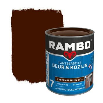 Rambo Pantserbeits Deur & Kozijn hoogglans kastanjebruin dekkend 750 ml