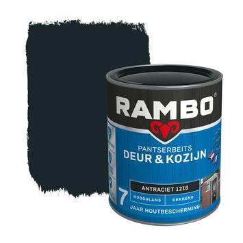 Rambo Pantserbeits Deur & Kozijn hoogglans antraciet dekkend 750 ml