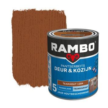 Rambo Pantserbeits Deur & Kozijn hoogglans teakhout transparant 750 ml