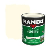 Rambo Pantserbeits Tuinhout zijdeglans ral 9010 dekkend 750 ml