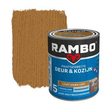 Rambo Pantserbeits Deur & Kozijn hoogglans lichteiken transparant 750 ml