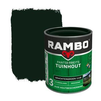 Rambo Pantserbeits Tuinhout zijdeglans grachtengroen dekkend 750 ml