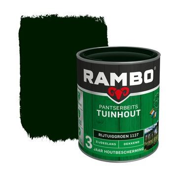 Rambo Pantserbeits Tuinhout zijdeglans rijtuigengroen dekkend 750 ml