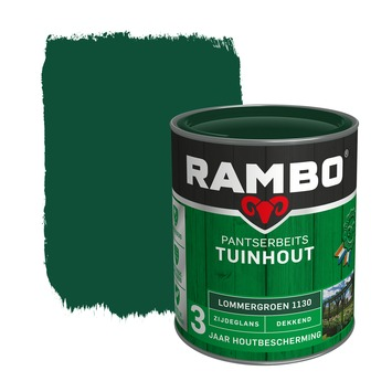 Rambo Pantserbeits Tuinhout zijdeglans lommergroen dekkend 750 ml