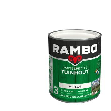 Rambo Pantserbeits Tuinhout zijdeglans wit dekkend 750 ml