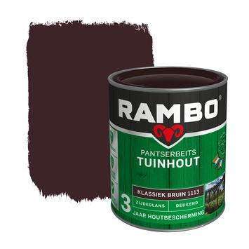 Rambo Pantserbeits Tuinhout zijdeglans klassiekbruin dekkend 750 ml
