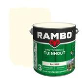 Rambo Pantserbeits Tuinhout zijdeglans ral 9010 dekkend 2,5 l
