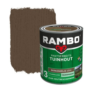 Rambo Pantserbeits Tuinhout zijdeglans berkengrijs transparant 750 ml