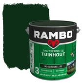 Rambo Pantserbeits Tuinhout zijdeglans bosgroen dekkend 2,5 l