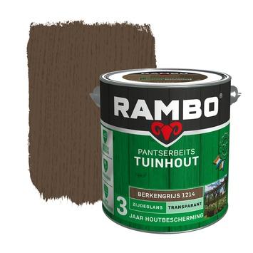 Rambo Pantserbeits Tuinhout zijdeglans berkengrijs transparant 2,5 l