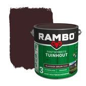 Rambo Pantserbeits Tuinhout zijdeglans klassiekbruin dekkend 2,5 l