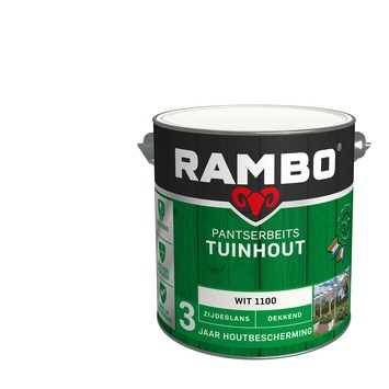 Rambo Pantserbeits Tuinhout zijdeglans wit dekkend 2,5 l