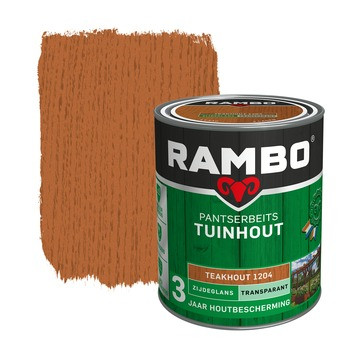 Rambo Pantserbeits Tuinhout zijdeglans teakhout transparant 750 ml