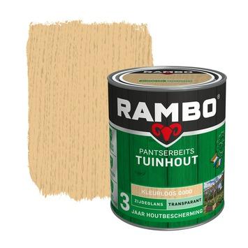 Rambo Pantserbeits Tuinhout zijdeglans kleurloos transparant 750 ml