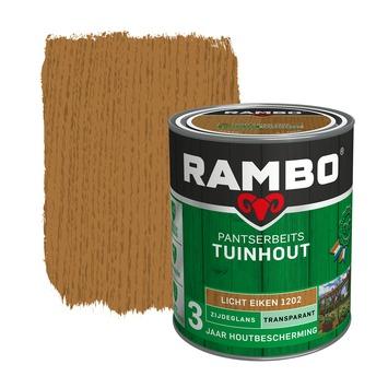 Rambo Pantserbeits Tuinhout zijdeglans lichteiken transparant 750 ml