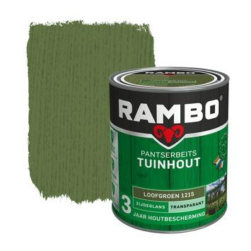 Rambo Pantserbeits Tuinhout zijdeglans loofgroen transparant 750 ml