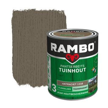 Rambo Pantserbeits Tuinhout zijdeglans antraciet transparant 750 ml