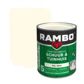 Rambo Pantserbeits Schuur & Tuinhuis zijdeglans ral 9010 dekkend 750 ml