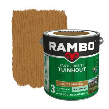 Rambo Pantserbeits Tuinhout zijdeglans lichteiken transparant 2,5 l